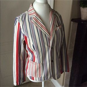Tommy Hilfiger Gigi Nautical Stripe Blazer Jacket